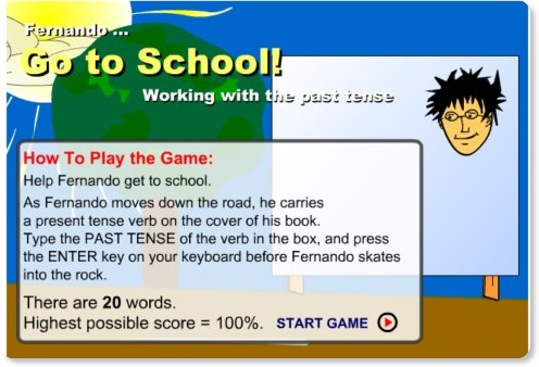 http://pagesperso-orange.fr/prof.danglais/animations/games/preterits/gotoschool.htm