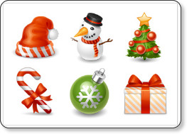 http://www.psdtop.com/blog/freebies/25-beautiful-christmas-icon-sets/