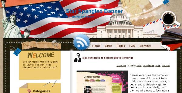 american usa template white house
