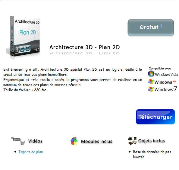 Fluxmark architecture 3d sp cial plan 2d 2010 pro gratuit for Logiciel architecture professionnel