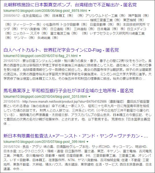 https://www.google.co.jp/search?ei=qATiWsGYCund0gLUqLnACQ&q=site%3A%2F%2Ftokumei10.blogspot.com+%E2%80%9D%E6%97%A5%E6%9C%AC%E7%B2%BE%E5%B7%A5%E2%80%9D&oq=site%3A%2F%2Ftokumei10.blogspot.com+%E2%80%9D%E6%97%A5%E6%9C%AC%E7%B2%BE%E5%B7%A5%E2%80%9D&gs_l=psy-ab.3...15762.18932.0.19280.2.2.0.0.0.0.156.310.0j2.2.0....0...1..64.psy-ab..0.0.0....0.a3m6XPi6oBc