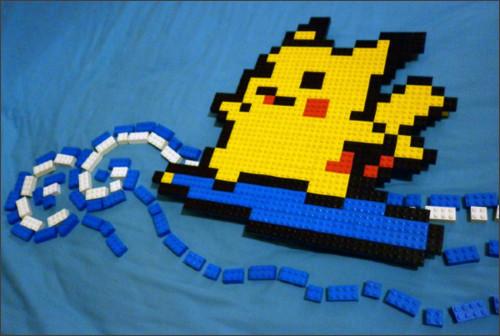http://meufer.deviantart.com/art/LEGO-Surfing-Pikachu-1-213420029