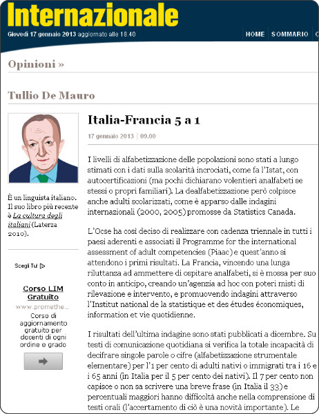 http://www.internazionale.it/opinioni/tullio-de-mauro/2013/01/17/italia-francia-5-a-1/