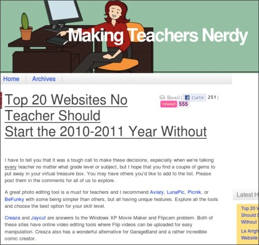 http://mrssmoke.onsugar.com/Top-20-Websites-Teacher-Should-Start-2010-2011-Year-Without-9213932