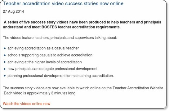 http://www.nswteachers.nsw.edu.au/about-us/news/video-success-stories-now-online/