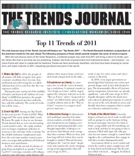 http://www.trendsresearch.com/predictions/TopTrends2011.pdf