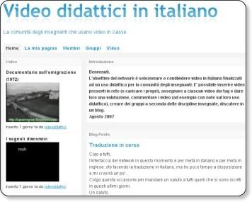 http://videodidattica.ning.com