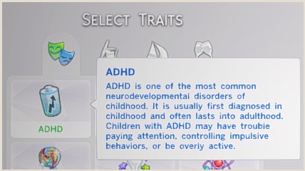 http://claudiasharon.tumblr.com/post/117703826902/adhd-trait-for-the-sims-4