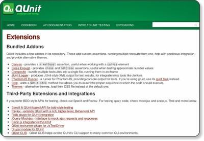 http://qunitjs.com/extensions/