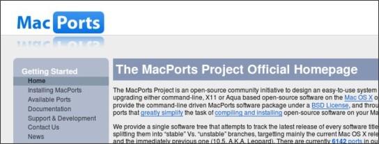 http://www.macports.org/