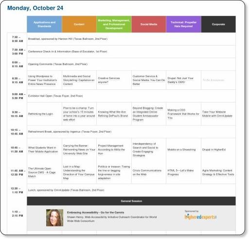 http://2011.highedweb.org/schedule.aspx