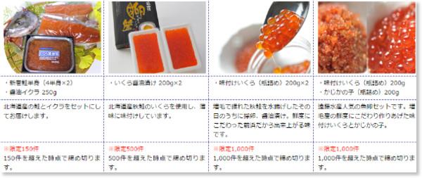 http://www.town.mashike.hokkaido.jp/furusatonouzei/05-ichiran.html