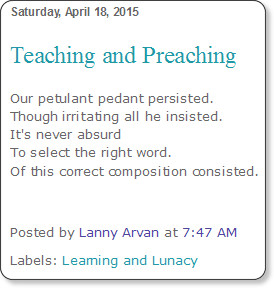 http://dailyrhyme.blogspot.com/2015/04/teaching-and-preaching.html