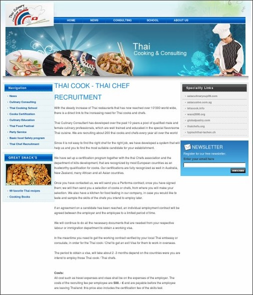 http://www.thai-culinary.com/thai_chef_recruitment.php