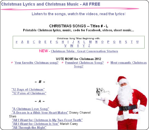 http://www.links2love.com/christmas_songs.htm