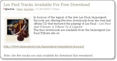 http://www.classicrockmagazine.com/news/les-paul-tracks-available-for-free-download-this-weekend/