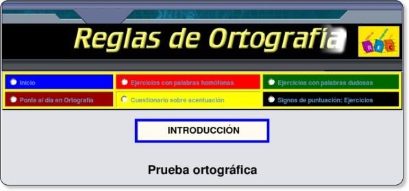 http://www.reglasdeortografia.com/examenintroduccion.html