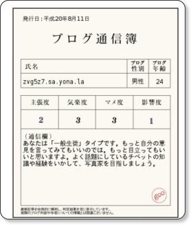 http://blogreport.labs.goo.ne.jp/tushinbo.rb?bu=http%3A%2F%2Fzvg5z7.sa.yona.la%2F&btn_bu=%C4%CC%BF%AE%CA%ED%A4%F2%BA%EE%C0%AE