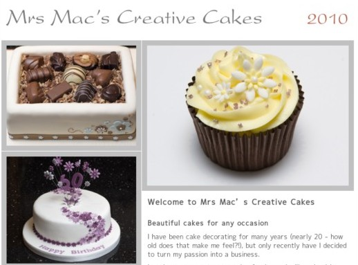 http://www.mrsmac.co.uk/cakes/Mrs_Macs_Creative_Cakes/Home.html