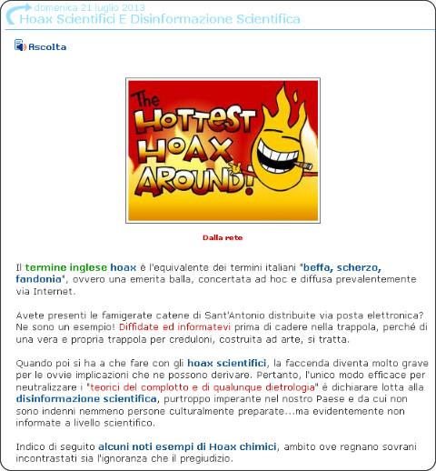 http://www.tutto-scienze.org/2013/07/hoax-scientifici-e-disinformazione.html