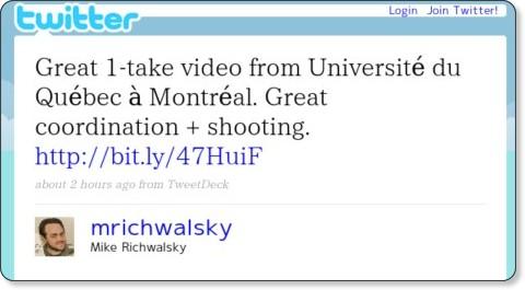 http://twitter.com/mrichwalsky/statuses/4445161512