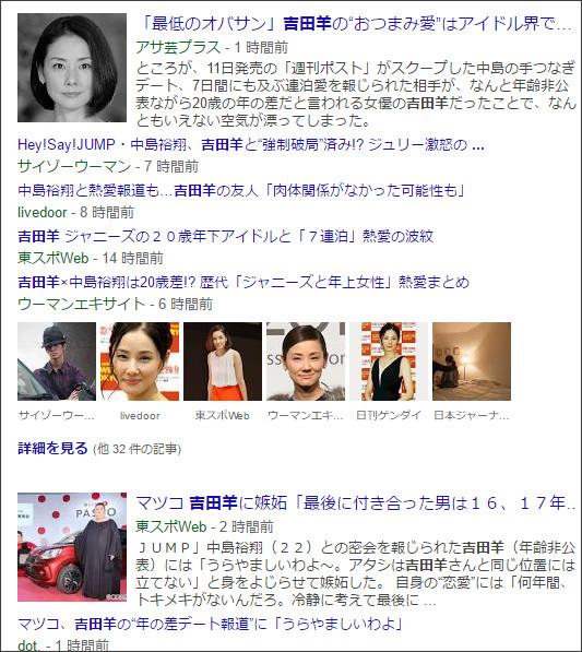 https://www.google.co.jp/search?hl=ja&gl=jp&tbm=nws&authuser=0&q=%E5%90%89%E7%94%B0%E7%BE%8A&oq=%E5%90%89%E7%94%B0%E7%BE%8A&gs_l=news-cc.12..43j43i53.2124.2124.0.3287.1.1.0.0.0.0.118.118.0j1.1.0...0.0...1ac.2.d2qtEgty8rw