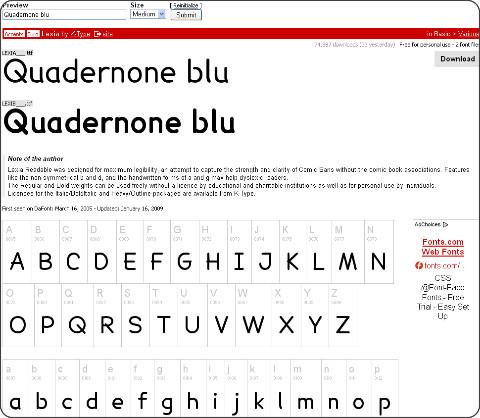 http://www.dafont.com/lexia.font?text=Quadernone+blu