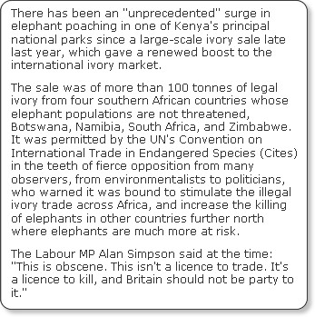 http://www.independent.co.uk/environment/nature/slaughter-of-the-elephants-1631367.html