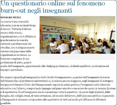 http://www.lastampa.it/2014/08/01/scienza/galassiamente/un-questionario-online-sul-fenomeno-burnout-negli-insegnanti-iMS6pjtHsEAF1UISIbI6tK/pagina.html