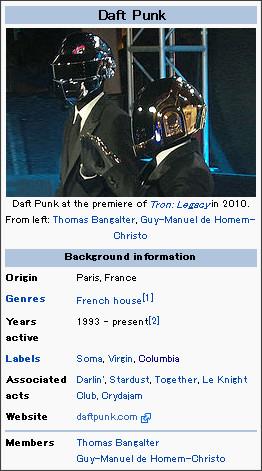 http://en.wikipedia.org/wiki/Daft_Punk