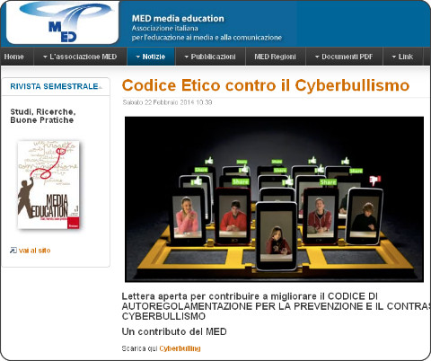 http://www.mediaeducationmed.it/notizie/incontri-concorsi-conferenze/192-codice-etico-contro-il-cyberbullismo.html