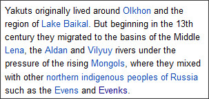 http://en.wikipedia.org/wiki/Sakha_people
