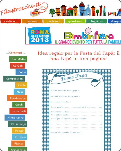 http://www.filastrocche.it/feste/idea-regalo-per-la-festa-del-papa-il-mio-papa-in-una-pagina/