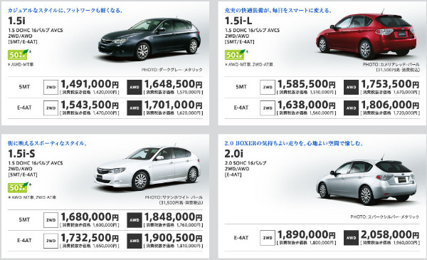 http://www.subaru.jp/impreza/impreza/grade.html