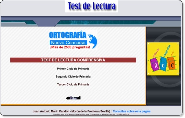 http://reglasdeortografia.com/testcomprension.html