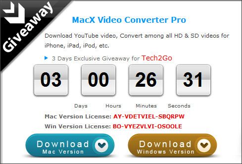 http://www.macxdvd.com/giveaway/exclusive-giveaway-for-tech2go.htm