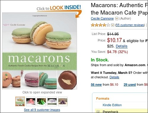 http://www.amazon.com/Macarons-Authentic-French-Recipes-Macaron/dp/1569758204/ref=sr_1_6?ie=UTF8&qid=1362303176&sr=8-6&keywords=macarons