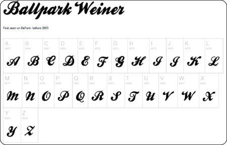 http://www.dafont.com/ballpark-weiner.font