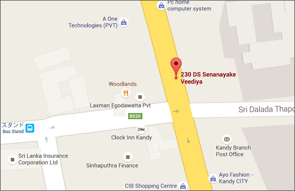 https://www.google.co.th/maps/place/230+D+S+Senanayake+Veediya,+Kandy+20000+%E3%82%B9%E3%83%AA%E3%83%A9%E3%83%B3%E3%82%AB/@7.2986685,80.6364003,19z/data=!3m1!4b1!4m2!3m1!1s0x3ae367d4ed1fec63:0xd3ed4427d10f9ed4