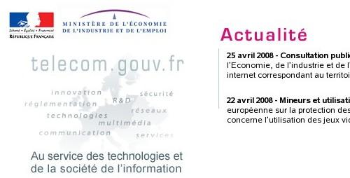 http://www.telecom.gouv.fr/accueil.php3