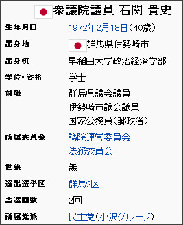 http://ja.wikipedia.org/wiki/%E7%9F%B3%E9%96%A2%E8%B2%B4%E5%8F%B2
