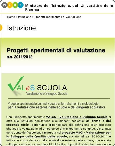 http://www.istruzione.it/web/istruzione/progetti-sperimentali-di-valutazione