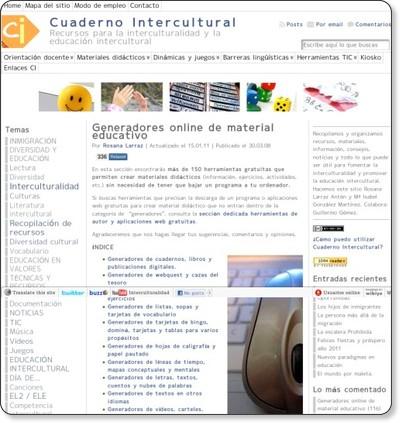 http://www.cuadernointercultural.com/tic-tools/generadores-online/#otros_generd