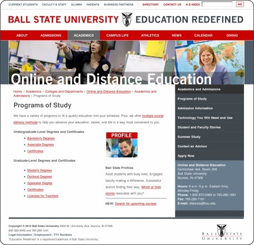 http://cms.bsu.edu/Academics/CollegesandDepartments/Distance/Academics/Programs.aspx