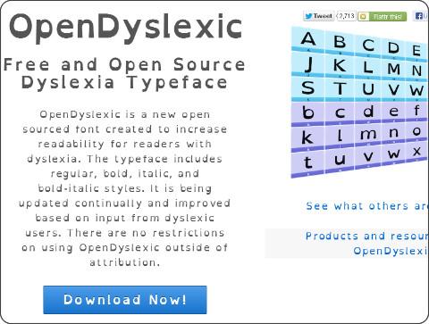 http://opendyslexic.org/