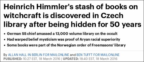 http://www.dailymail.co.uk/news/article-3498908/Heinrich-Himmler-s-stash-books-witchcraft-discovered-Czech-library-hidden-50-years.html