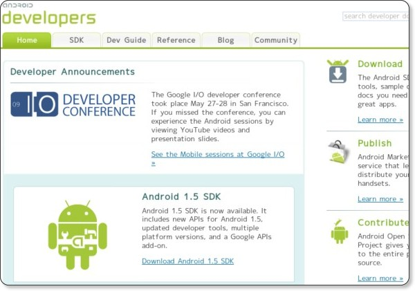 http://developer.android.com/index.html