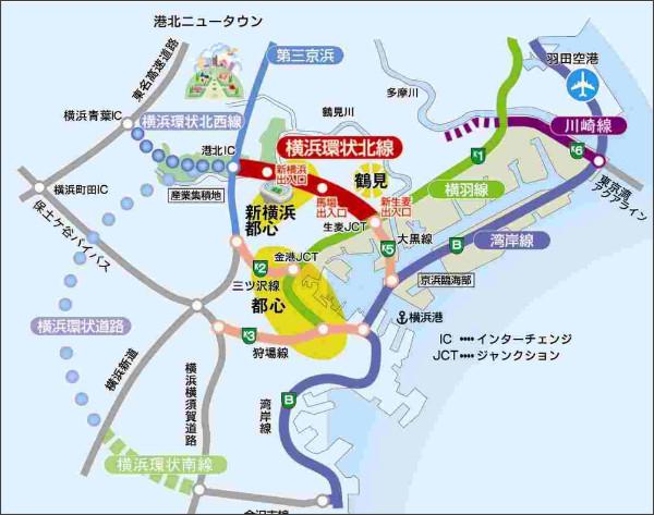 横浜市道路局事業調整課|横浜環状北線事業概要
