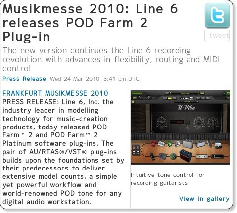 http://www.musicradar.com/news/guitars/musikmesse-2010-line-6-releases-pod-farm-2-plug-in-241378