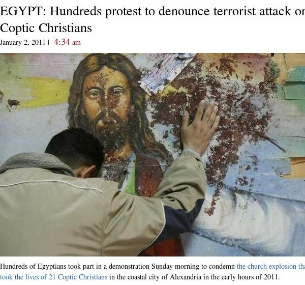 http://latimesblogs.latimes.com/babylonbeyond/2011/01/egypt-hundreds-protest-in-denouncement-of-copts-killings.html